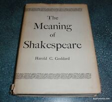 ***ULTRA RARE*** 1951 The Meaning of Shakespeare by Harold C. Goddard Book W/DJ