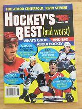 Hockey Star BEST SERGEI FEDOROV PAUL KARIYA CHRIS CHELIOS Magazine Kevin Stevens
