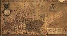 MAP ANTIQUE 1755 MAERSCHALCK NEW YORK CITY PLAN LARGE REPRO POSTER PRINT PAM1641