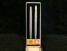 Parker 45 Flighter & Gold Ballpoint Pen &  0.9 Pencil Set New In Bx Made In Usa