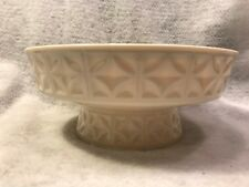 Lenox china footed large bowl platinum trim & geometric pattern