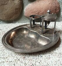 The St Paul Hotel Antique Silver Inkwell Minnesota History Lodging Fountain Pen