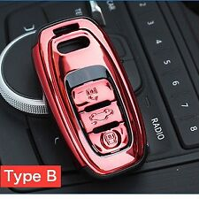 RED AUDI Smart Key A4 A5 A6 Q5 Q7 TT R8 - Remote Key Cover Case Protective 360