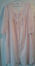 Vintage Barbizon Pink Robe Button Up Lightweight Embroidery