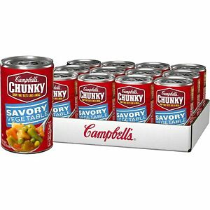 Campbell's Chunky Savory Vegetables Soup, 18.8 oz [12-Cans]
