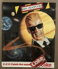 Coke Coca-Cola Max Headroom Poster Catch the Wave Space Planets Galaxy Mckelvey