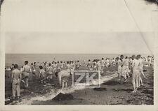SOLDAT Bain Plage MANCHE Guerre Mondiale Armée Photo 1914-1918