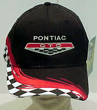 PONTIAC GTO BLACK/RED CHECKERED HAT GM LICENSED