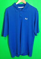 Under Armour Mens Short Sleeve Polo Shirt Groomsman Logo Size Large Blue