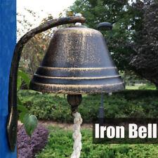 12CM Retro Cast Iron Dinner Doorbell Ring Bell w/Bracket Patio Coffee Wall Decor
