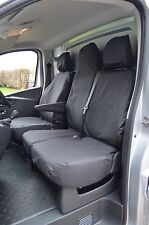 Renault Trafic Sport/Business+ 2014+ Tailored & Waterproof Black Seat Covers