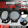 Pair 9 inch 225W LED Driving Spot Light Offroad 4WD UTE SUV Work Light Bull Bar