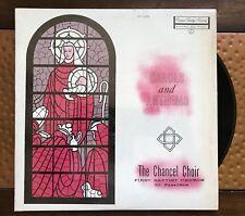 Carols and Anthems The Chancel Choir First Baptist Church Album Record Vintage