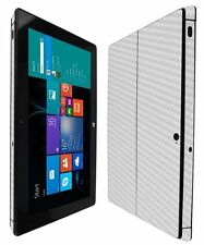 Skinomi Carbon Fiber Silver Skin+Screen Protector for Microsoft Surface Pro 2