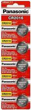 NEW 5 PANASONIC CR 2016 CR2016 ECR2016 LITHIUM COIN CELL Button Battery Exp 2025