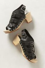Anthropologie Soles,  Asbury black and wood clog size 40 NWD
