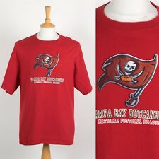 NFL TAMPA BAY BUCCANEERS T-SHIRT RED CREW NECK AMERICAN FOOTBALL USA SPORTS L