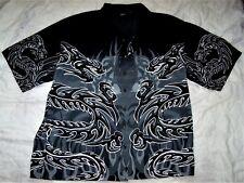 Men's Black and Gray Shirt Size XL