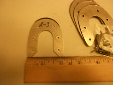 Metal Heel Plates fit Cowboy Boots or Shoes -sz #2/3 ~ 2 pair ~ Inc.s  Nails