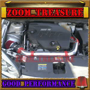 RED 2007-2009/07 08 09 SATURN AURA 3.6 3.6L V6 FULL AIR INTAKE KIT