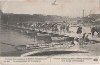 POSTCARD  MILITARY WWI  Senegal Regiment  crossing new bridge at Compiegne
