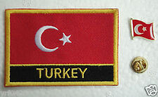 Turkey National Flag Pin and Patch Embroidery