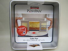 New Wilkinson Aluminium Push Pan Square Cake Tin 20cm 8 inch 02028