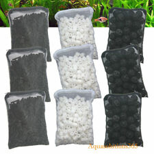 3 lb Activated Carbon +150pcs Bio Balls + 3 lb Ceramic Rings for Aquarium Filter