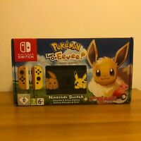 Scatola VUOTA Nintendo Switch - Pokemon Let's Go Eevee/Pikachu Limited Edition