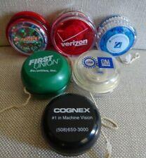 Yoyo 6 piece Lot plastic YO YO Advertising Verizon, GM UAW, McD Yomega, Avabiz