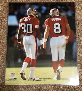 Jerry Rice & Steve Young Unsigned San Francisco 49ers  16x20 Photo