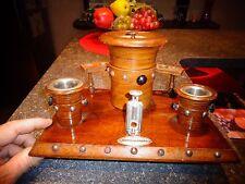 Ancien Set Pot à Tabac Porte Ancienne Pipe Coupe Cigare Grattoir Pyrogène