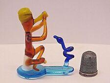 Scarse & altamente collezionabile Blu Forma PIRELLI VETRO Snake Charmer Figurina