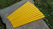 "12 - Hand Poured 12"" Round 100% Beeswax Taper Candles All-Natural, Cotton Wicks"
