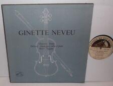 FJLP 5037 Chausson Poeme Debussy Violin Sonata Ravel Tzigane Ginette Neveu
