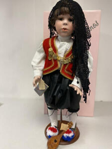 "28"" PORCELAIN FAYZAH SPANOS DOLL ""THEODORE"" PORTRAIT OF HER SON 34 OF ONLY 50 PC"