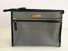 New Mor Destination Rome Stand Up Makeup Case Geometric Textured Cosmetic Bag