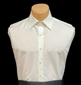 Men's Ivory Dress Shirt Microfiber with Whisper Stripe Tuxedo Wedding Groom Prom
