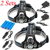 90000Lumens T6 LED Headlamp Headlight Bike Front light 18650 Battery+USA Charger