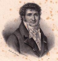 Portrait XIXe Marc-Antoine-Madeleine Désaugiers Fréjus Chanson Chansonnier