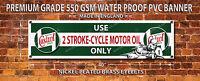 CASTROL 2 STROKE OIL WATERPROOF 550GSM GRADE PVC BANNER.GARAGE,WORKSHOP BANNER