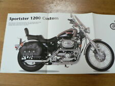 D1018 POSTER BROCHURE HARLEY-DAVIDSON XL1200 SPORSTER 1996 & 1996 XL HUGGER SPOR