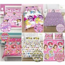 Set di lenzuola e copripiumini per bambini a tema principesse