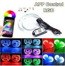 2Pcs RGB Headlight Projector Led Devil Eye Demon Eye Lamp App Remote Control 12V