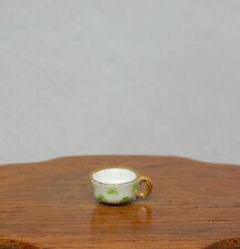 Vintage Jean Yingling Shamrock Porcelain Teacup Dollhouse Miniature 1:12