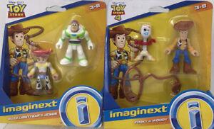 2 Imaginext toy story 4-disney Pixar Buzz Lightyear, Jessie,woody,& Forky NIB