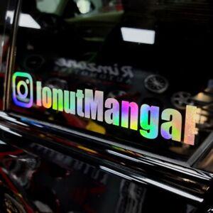 X3 INSTAGRAM YOUR NAME FUNNY BMW DRIFT OIL SLICK WINDOW CAR STICKER(CUSTOM SIZE)