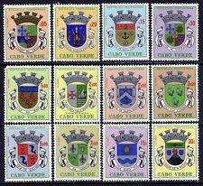 Cape Verde 308-319 (1961) Cities Coat of Arms full set OG MNH**