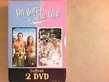 COFFRET 2 DVD SERIE / UN GARS UNE FILLE / LES VOYAGES + LE MARIAGE / TB ETAT