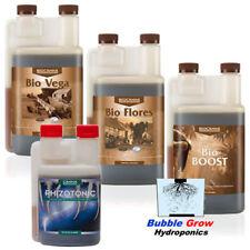 CANNA BIO VEGA + FLORES + BOOST 1L + RHIZOTONIC 1L ORGANIC NUTRIENTS FRESH
